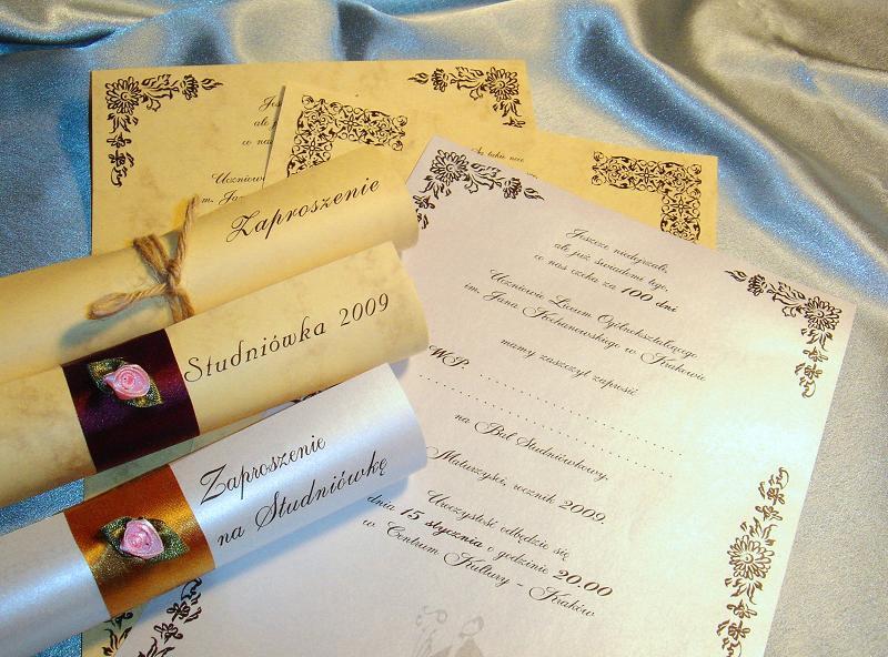 Zaproszenia Studniówkowe Na Studniówkę 2018 2019 Zaproszenia